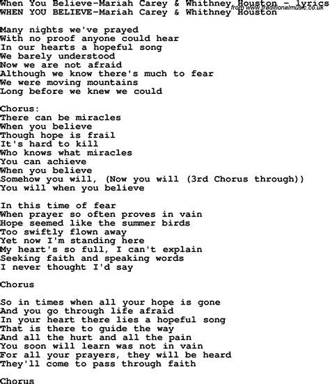 if you believe testo believe carey houston chords