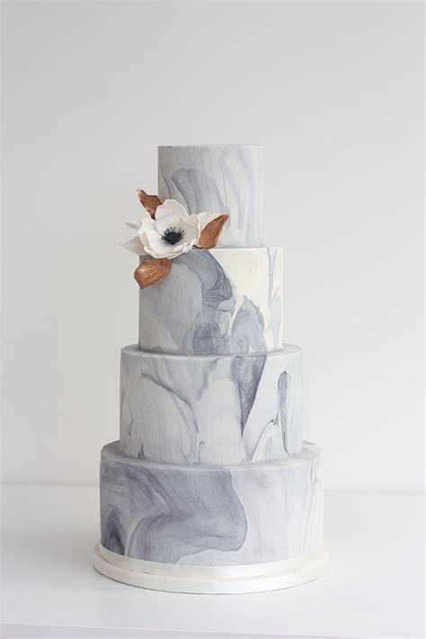 11 Luxurious Marble Wedding Cakes Uk