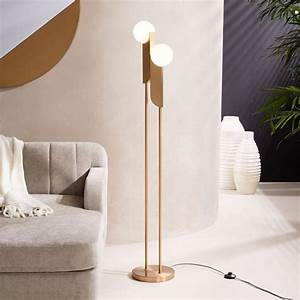 bower gold globes led floor lamp With gold globe floor lamp