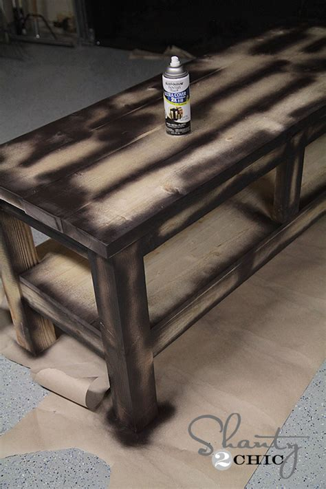 Check Out My  Pottery Barn Inspired Console Table