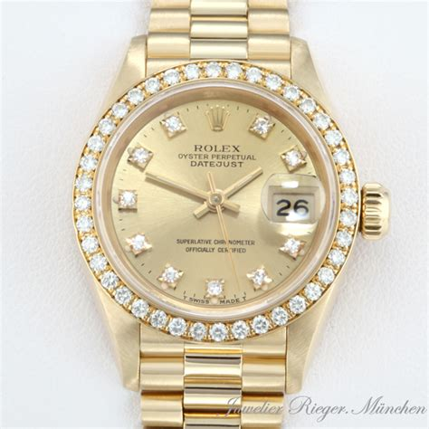 rolex uhr damen gold rolex uhr date just gold 750 diamanten automatik
