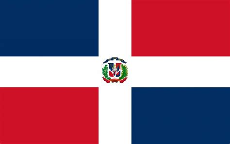 dominican republic flag coloring country flags