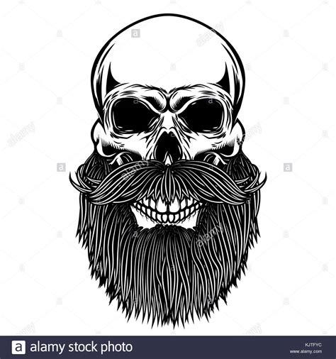 Bearded Skull Vector Stock Photos & Bearded Skull Vector ...