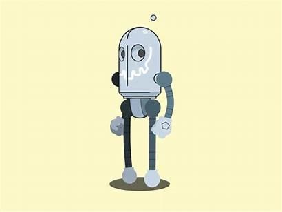 Robot Walk Dribbble Graphics Mills Motion