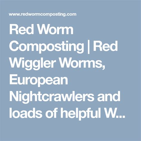 worm composting european worms wiggler redwormcomposting know let smule