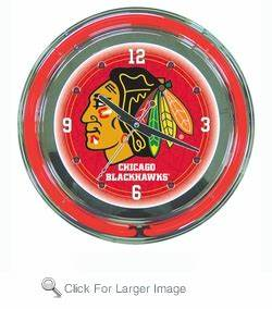 NHL Chicago Blackhawks Neon Clock only $99 99 NHL Neon