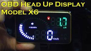 Car Head Up Display With Compact Display - Model X6