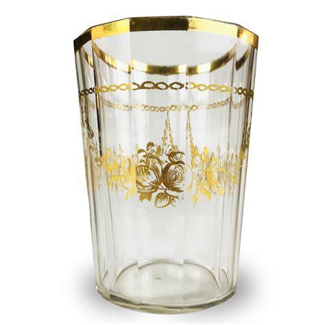 bohemia bicchieri bicchiere antico in vetro dorato bohemia 1700 di forma