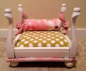 Pink Leather Sofa For Sale by Upcycled Pet Bed Made From A Itty Bitty Stool