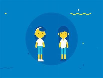 Motion Dribbble Highfive Five Animation Samsung Graphics