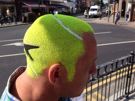 Man Turns Hair Into Tennis Ball