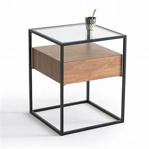 Table De Chevet Ampm : chevet 1 tiroir agura noyer noir la redoute interieurs la redoute ~ Teatrodelosmanantiales.com Idées de Décoration