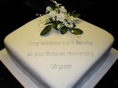 diamond wedding anniversary cake ideas idea