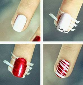 20 Cutest Christmas Nail Art DIY Ideas Cane Nails