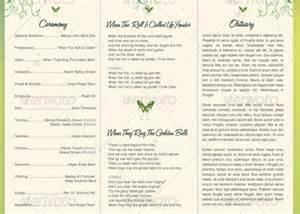 programs for weddings templates decorative tri fold funeral program godserv market
