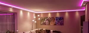 LED Stuckleisten für indirekte Beleuchtung von Wand und