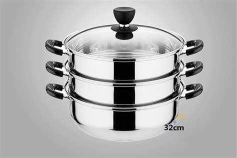 free shpping 4 layers stainless free shipping stainless steel steamer pot 30cm stew pot 3