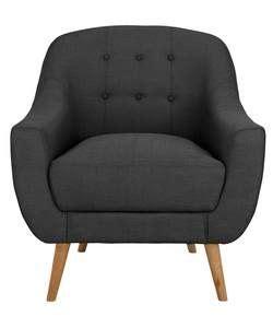 Bedroom Chair Argos by Buy Hygena Lexie Retro Fabric Chair Grey At Argos Co Uk