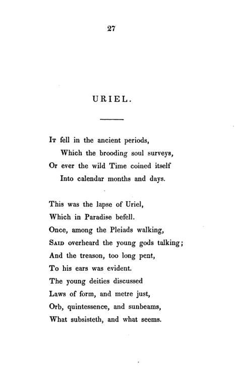 uriel poem wikiwand