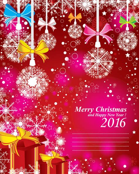 You can download free merry christmas vector in.ai and.eps format. Merry Christmas And Happy New Year 2016. The Red Gift And ...