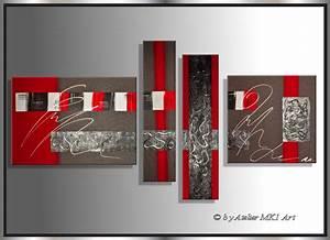 Moderne Kunst Leinwand : mk1 art bild leinwand abstrakt gem lde kunst malerei modern bilder acryl rot xxl ~ Sanjose-hotels-ca.com Haus und Dekorationen