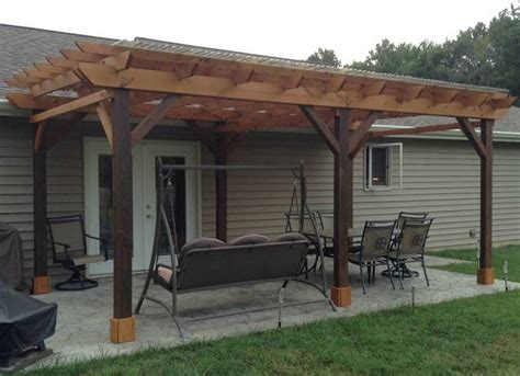 covered pergola covered pergola plans design diy how to build 12 x24 step by step instructions ebay