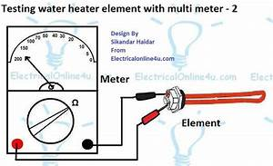 Testing Water Heater Element Using Multimeter Or Ohm Meter