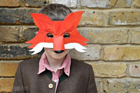 fantastic  fox mask  world book day red ted arts blog