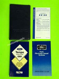 1991 Ford Tempo Owners Manual Owner U0026 39 S Guide Book Set Case
