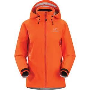 Orange Rain Jacket for Women