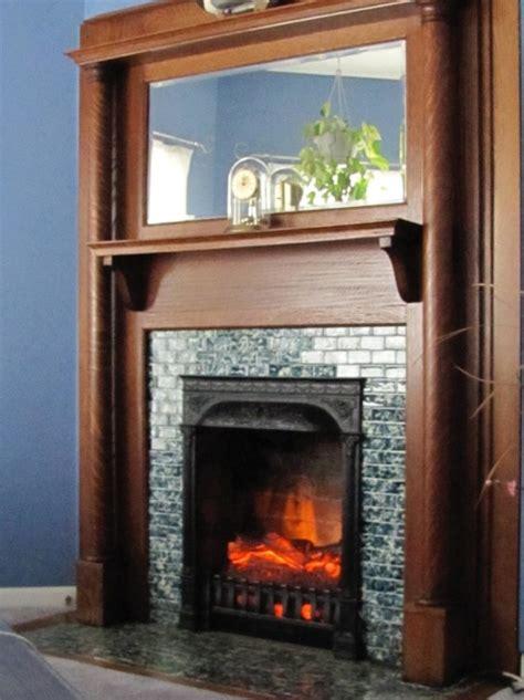 electric log set heater fireplace insert  realistic