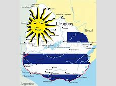 Abstract vector color map of Uruguay country colored by