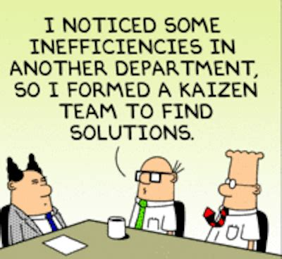 """Kaizen"" Mentioned in Dilbert Cartoon, but in a Warped Way"