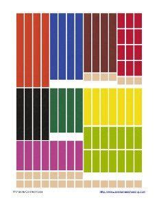 Cuisenaire Rods Templates by Fraction Printables Fraction Circles Cuisenaire Rods