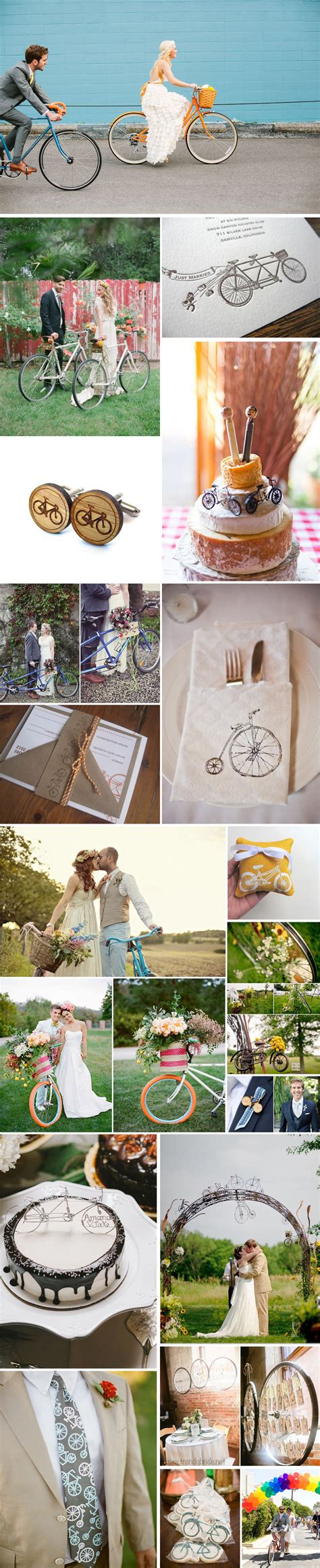 A Bicycle Themed Inspiration Board Bespokebride