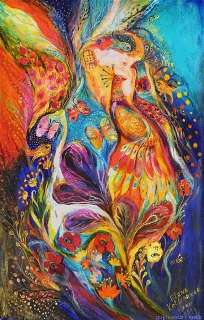 Psychedelic Kotliarker Elena Trippy Drugs Artwork Abstract