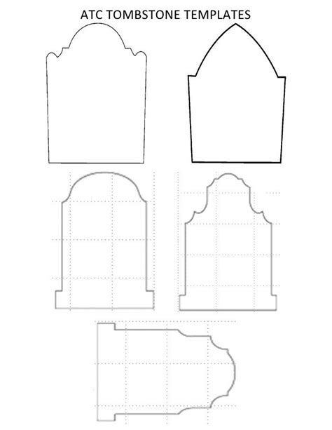 Tombstone Templates For by Freebie Templates Template And