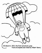 Parachute Jump Coloring Pages Crayola Colouring Colored Drawing March Printable Blimp sketch template