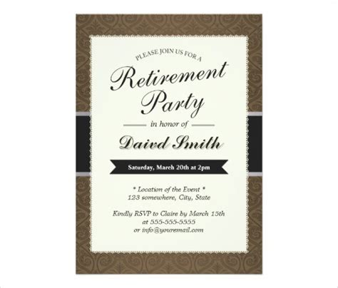 Free Templates For Retirement Invitations by Retirement Invitation Template Gangcraft Net