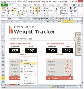 Productivity Tracker Excel Template Free Group Weight Tracker Template For Excel