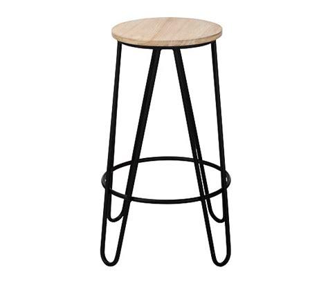 chaise de bar 63 cm tabouret de bar h 63 cm essia bois clair noir tabourets but