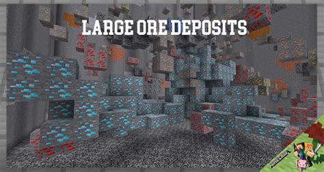 Large Ore Deposits Mod 116411521122 For Minecraft
