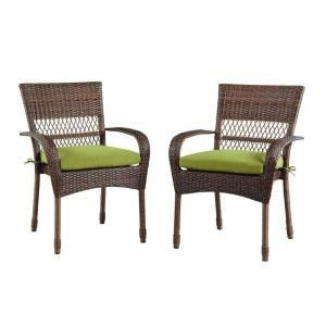 Martha Stewart Charlottetown Patio Cushions by Charlottetown Brown All Weather Wicker Patio Dining Chair