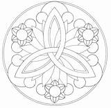 Coloring Mandala Simple Easy Pages Designs Popular sketch template