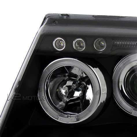 jeep black headlights 99 04 jeep grand cherokee black halo projector headlights