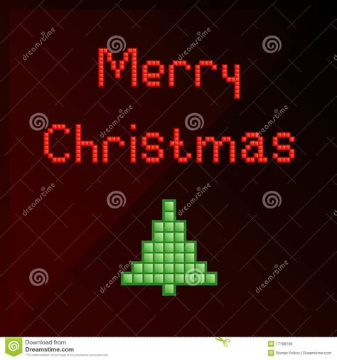 best pixel merry christmas pixel card stock vector illustration of nostalgia 17186190