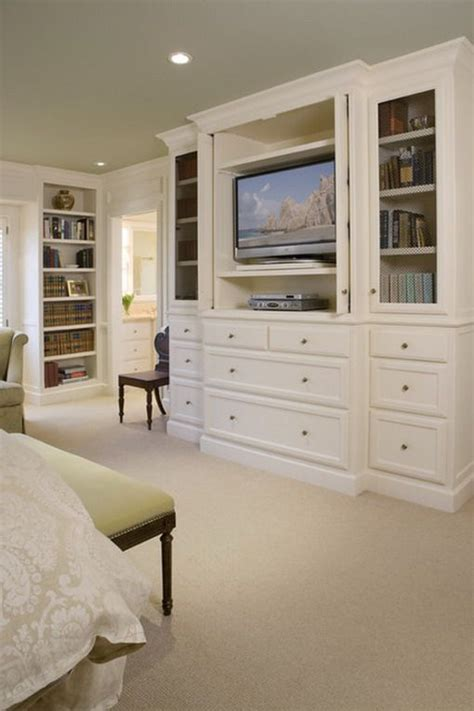Schlafzimmer Tv Schrank by White Tv Cabinets In Classic Master Bedroom Designs For