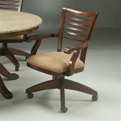 impacterra grand vista caster chair in cosmo amber wayfair