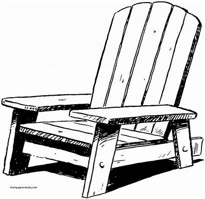 Chair Adirondack Beach Clipart Chairs Clip Palm