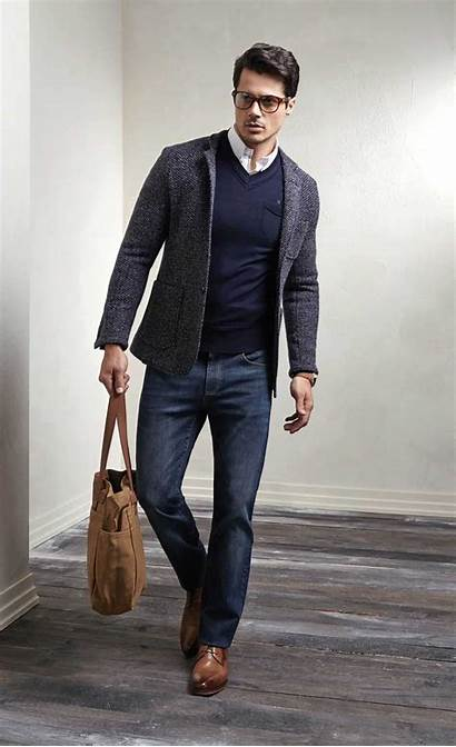 Casual Business Young Jeans Office Coat Attire